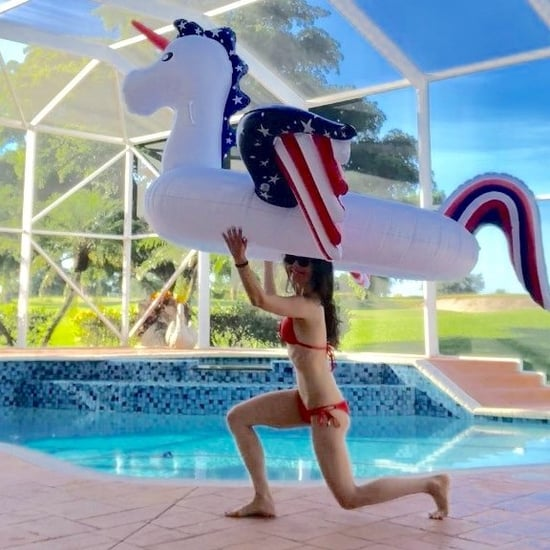 Summer Workout Using Pool Floats