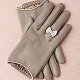 I'm obsessed with the little white bow on these gray leather gloves ($150). — Tara Block, assistant editor