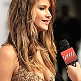 Jennifer Lawrence was interviewed on the carpet.