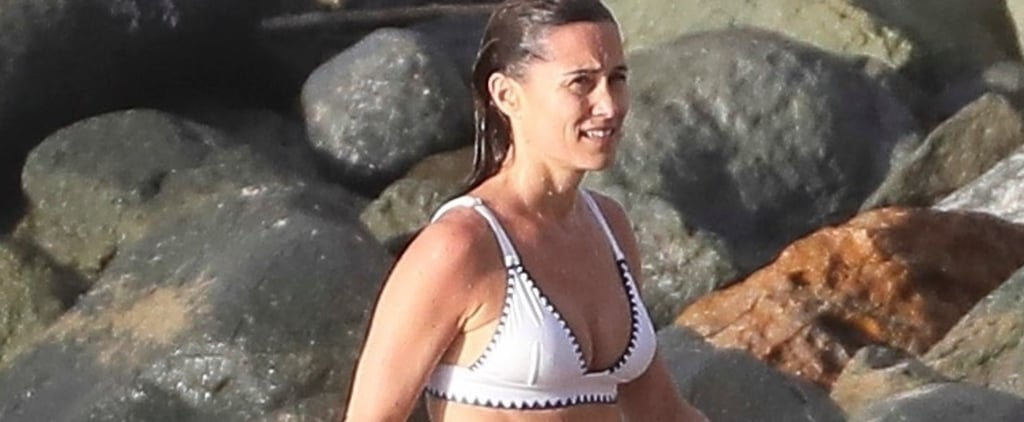 Pippa Middleton White Bikini January 2019