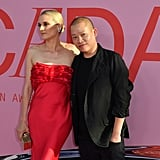 Posing with designer Jason Wu.