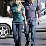 Britney Spears Gets Coffee in Green Turtleneck