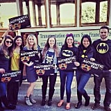 Gotham residents showed their support.  Source: Instagram user esg829