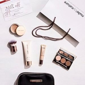 Nude by Nature Showbag ($26) Includes:  Nude by Nature Natural Illusion Eyeshadow trio  Nude by Nature Mineral Concealer  Kabuki Brush