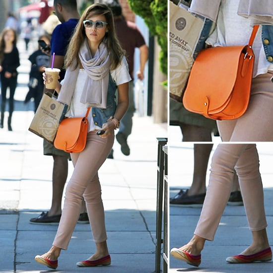 Jessica Alba Orange Bag