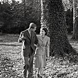 Princess Elizabeth and Philip, Duke of Edinburgh, on their honeymoon in 1947.