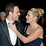With Michael Fassbender