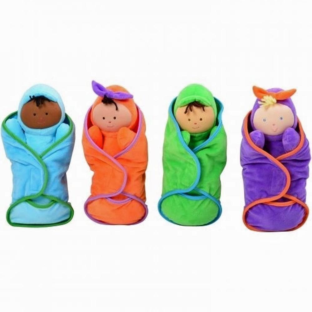 Swaddle Babies Set of 4 Dolls