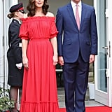 Kate Middleton Red Alexander McQueen Maxi Dress