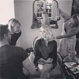 Julianne Hough shared a sneak peek of her Emmys hair and makeup look. Source: Instagram user juleshough