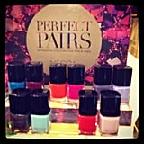 """These went in our """"Why didn't we think of this before?"""" files — Mecca polishes paired in mani/pedi sets. Genius."""