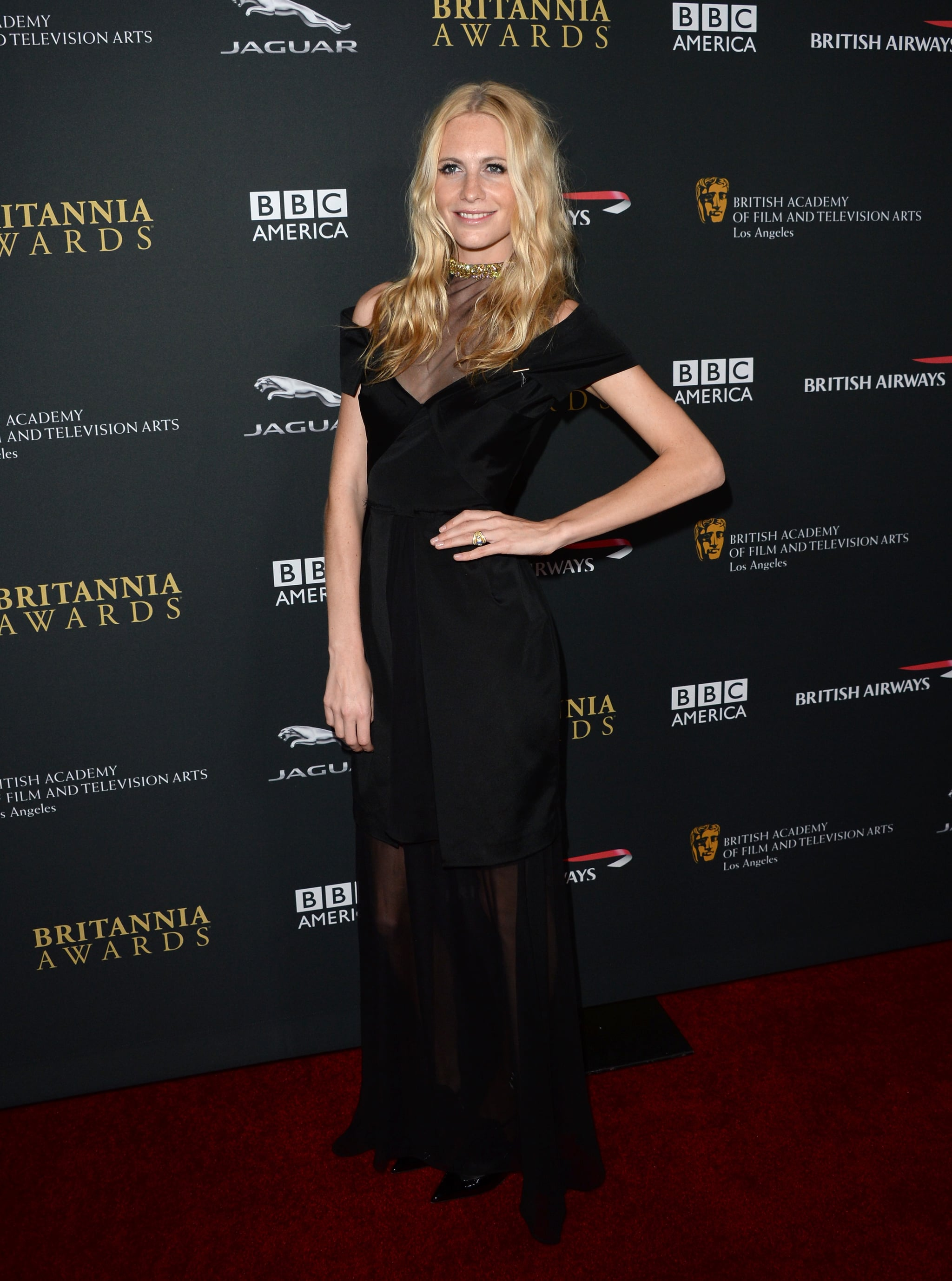 Poppy Delevingne posed on the red carpet.