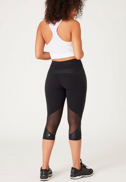 Sweaty Betty Power Mesh Cropped Gym Leggings