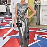 Michelle Keegan wore wet look Ashley Isham.