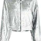 Nike velvet zipped hoodie