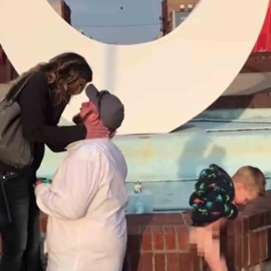 Boy Peeing During Proposal