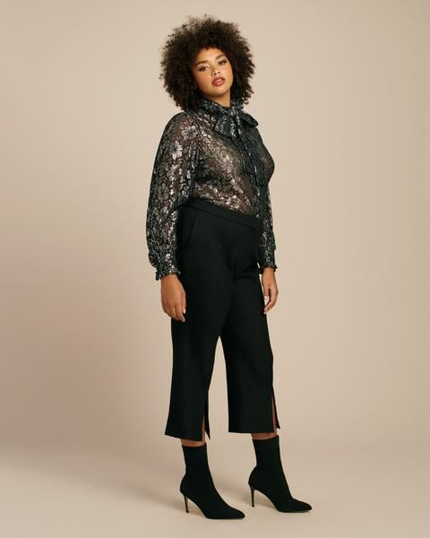 Adam Lippes Double Face Wool Bell Crop Pant