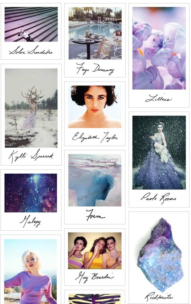Le Feu Violet Inspiration Board