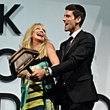 Novak Djokovic taught Goldie Hawn a thing or two about tennis.