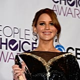 Jennifer Lawrence Wins Big in Dramatic Valentino at People's Choice Awards