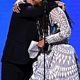 روبرت دي نيرو وآفا دوفيرناي في حفل توزيع جوائز اختيار النقاد لعام 2020