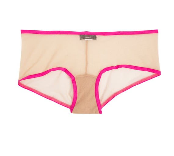 Our everyday underwear gets a dose of the on-trend via a pop of neon.  Cosabella Two Tone Hotpant ($32)
