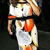 Kate Middleton's Groovy Print Dress at a Club in London, August 2008