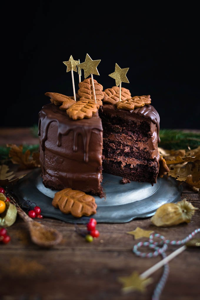 Chocolate Gingerbread Layer Cake