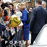 Naomi Watts greeted fans as Princess Diana.
