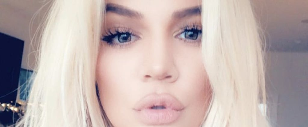Khloé Kardashian Platinum Blonde Hair 2018