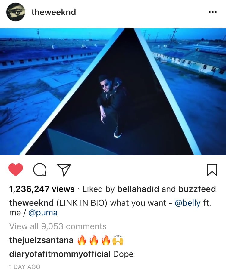 """Exhibit A: Bella """"Liked"""" 1 of The Weeknd's Instagram Photos"""