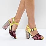 Asos Hazardous Embellished Heeled Sandals