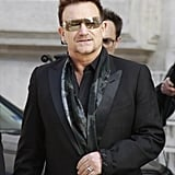 Bono walked into Stella McCartney's show on Monday.