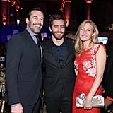 Jake Gyllenhaal linked up with Jon Hamm and Jennifer Westfeldt at the Gotham Independent Film Awards sponsored by euphoria Calvin Klein in NYC on Monday.