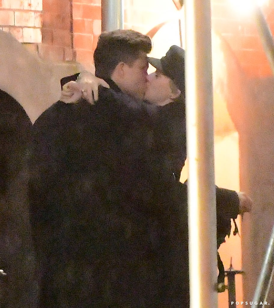 """Scarlett Johansson and Colin Jost have been linked since May, but we finally got a glimpse of the couple together during a sweet stroll in NYC. The 32-year-old actress and 35-year-old Saturday Night Live star were spotted kissing on the street after leaving the show's afterparty in the early hours on Sunday. Scarlett was all smiles as she planted a smooch on Colin, who was also seen walking behind her in the rain.  In September, Colin was asked about his rumored other half during the Emmys: """"She's wonderful. She's working, so otherwise, she'd be here,"""" he told ET. He added that """"it's hard to have a lot of complaints . . . she's pretty awesome."""" Scarlett announced her separation from French journalist Romain Dauriac in January. The couple share a 3-year-old daughter named Rose.      Related:                                                                                                           You Probably Forgot All About Some of Scarlett Johansson's Past Loves"""