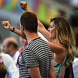 Gisele Bündchen attended the World Cup final with Tom Brady.