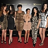 Kim Kardashian, Khloe Kardashian, Kourtney Kardashian, Kris Jenner, Kendall Jenner, and Kylie Jenner at The Colony.