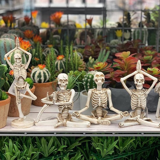Yoga Skeletons at Michaels For Halloween