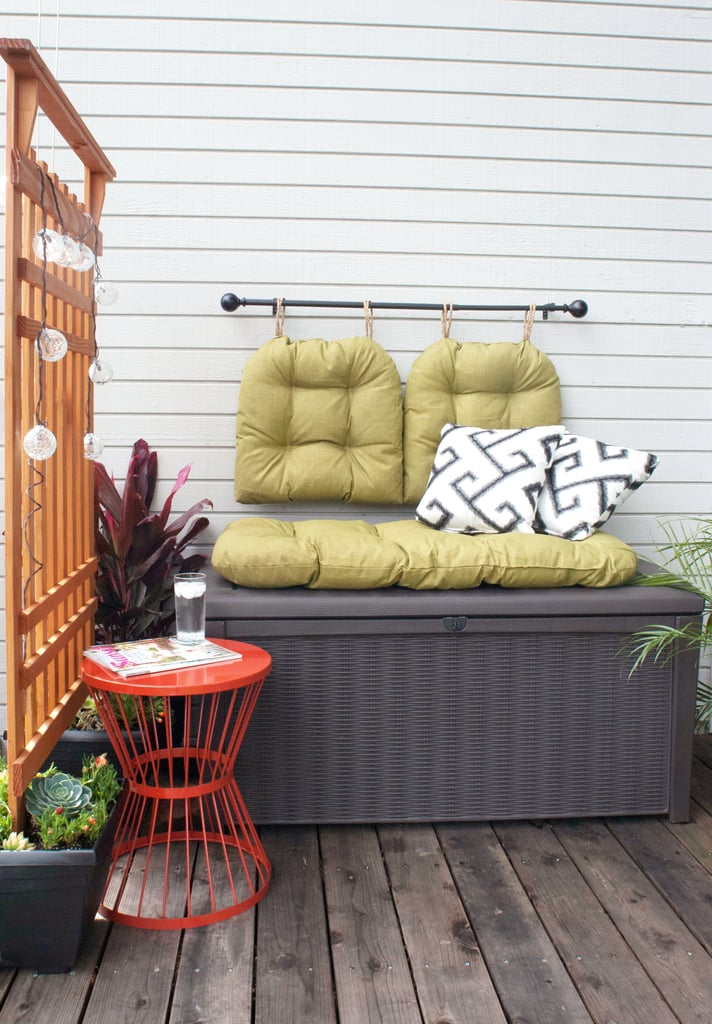 How to style a small patio popsugar home for Balcony storage