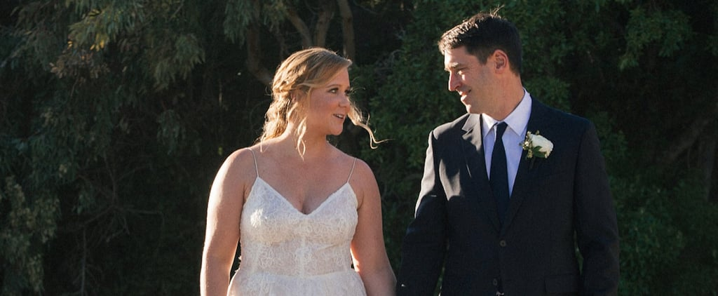 Amy Schumer Monique Lhuillier Wedding Dress