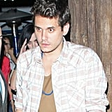 John Mayer was spotted leaving an LA restaurant with Katy Perry close behind.