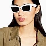 Topshop Koko White Feline Sunglasses