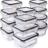 12-Pack Food Storage Containers with Lids
