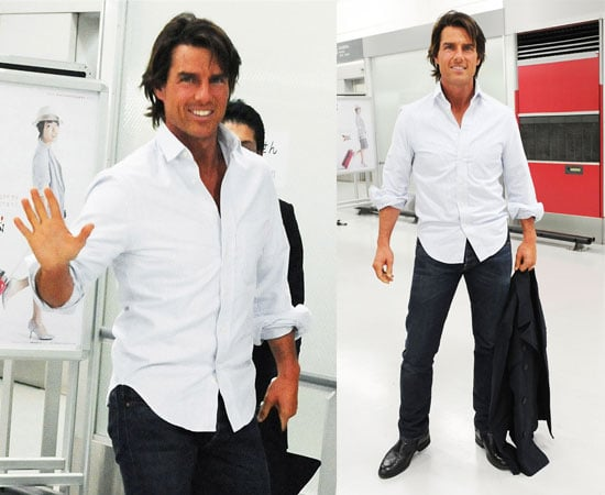 Pictures of Tom Cruise in Japan Promoting Knight and Day