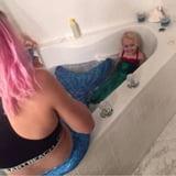 This Babysitter Got in on the Mermaid Fun in the Best Possible Way