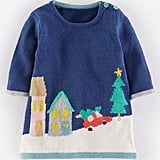 Mini Boden 'Winter Scene' Knit Dress
