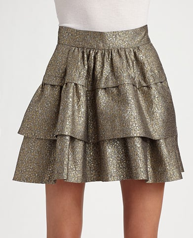 Diane von Furstenberg Bolo Metallic Tweed Skirt ($385)