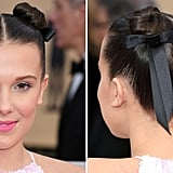 Millie Bobby Brown's Ribbon Space Buns