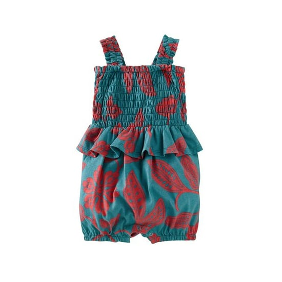 Tea Collection Smocked Peplum Romper