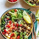 Veggie Burger Taco Salad